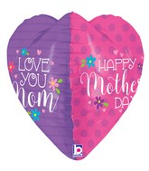 "23"" Multi-Sided Foil Shape Dimensionals™ Mother's Day Heart"