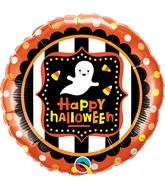 "18"" Round Halloween Ghost & Candy Corn"