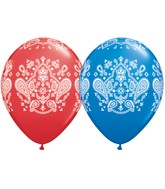 "11"" Dark Blue & Red 50 Count Bandana"