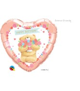"18"" Heart Packaged Forever Friends-Birthday Bear"