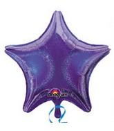 """32"""" Jumbo Holographic Star Purple Dazzler Star Balloon"""