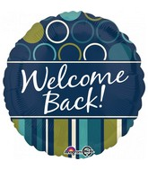 "18"" Welcome Back Blue & Green Foil Balloon"