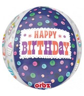 """16"""" Orbz Jumbo Cakes HBD to You Foil Balloon"""