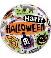"22"" Single Bubble Halloween Messages & Icons"