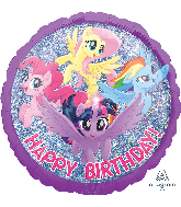 "18"" My Little Pony Adventure Happy Birthday Foil Balloon"