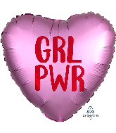 """18"""" Satin Infused GRL PWR Foil Balloon"""