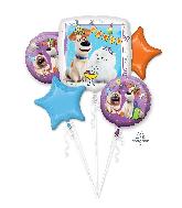 Bouquet The Secret Life Of Pets Five Balloons