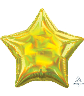 "18"" Iridescent Yellow Star Foil Balloon"