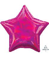 "18"" Iridescent Magenta Star Foil Balloon"