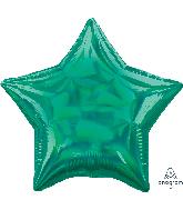 """18"""" Iridescent Green Star Foil Balloon"""