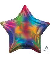 """18"""" Iridescent Rainbow Star Foil Balloon"""