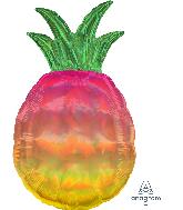"""31"""" Iridescent Pineapple Foil Balloon"""