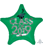 "18"" Class of 2019 - Green Foil Balloon"
