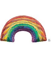 """34"""" Iridescent Rainbow Foil Balloon"""