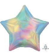 """18"""" Iridescent Pastel Rainbow Star Foil Balloon"""