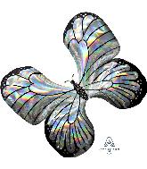 """30"""" Iridescent Butterfly Foil Balloon"""
