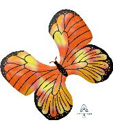 """30"""" Iridescent Monarch Butterfly Foil Balloon"""
