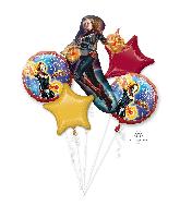 Bouquet Captain Marvel Five Pieces Balloons