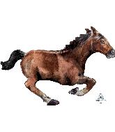 """40"""" Galloping Horse Foil Balloon"""
