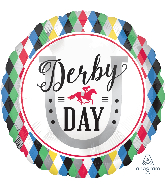 "18"" Derby Day Foil Balloon"