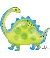 """32"""" Brontosaurus SuperShape Foil Balloon"""