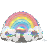 "28"" Magical Rainbow Unicorn/Narwhal Foil Balloons"