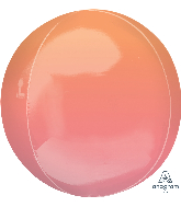 "16"" Foil Balloon Ombre Orbz Red and Orange"
