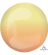 "16"" Foil Balloon Ombre Orbz Yellow and Orange"