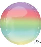 """16"""" Foil Balloon Ombre Orbz Rainbow"""