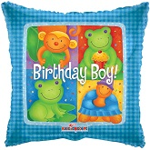 "18"" Birthday Boy Animals Balloon"