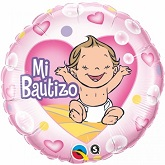 "18"" Mi Bautizo Pink Balloon"