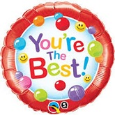 """18"""" You're The Best Candy Gumballs Packaged Mylar Balloon"""