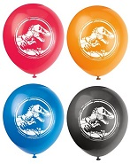 "12"" 8 Count Jurassic World Balloons 2 Sided"