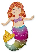 "32"" Happy Mermaid Foil Balloon"
