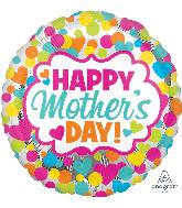 """28"""" Jumbo Happy Mother's Day Dots & Hearts Balloon"""