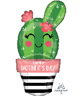 "35"" Happy Mother's Day Cactus Foil Balloon"