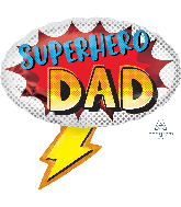 "27"" Superhero Dad Foil Balloon"