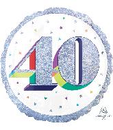 "18"" Holographic Jumbo Number Balloon Shape 40 Foil Balloon"