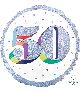 "18"" Holographic Jumbo Number Balloon Shape 50 Foil Balloon"