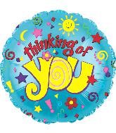 """17"""" Toy Sun & Stars Foil Balloon"""