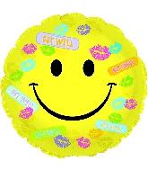 "17"" Get Well Bandaids & Kisses Balloon"