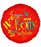 "18"" Welcome Repeat  Red Balloon"