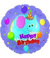 "17"" Happy Birthday Day Party Elephant Balloon"