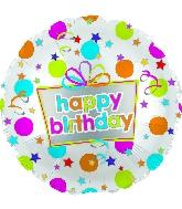 """17"""" Happy Birthday Dots Balloon"""