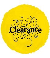 "18"" Clearance Balloon Yellow/Black"