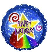 "18"" Happy Birthday Rainbow Star"
