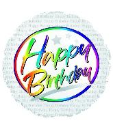 "18"" Happy Birthday Script"