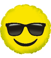 "17"" Emoticon With Shades Foil Balloon"