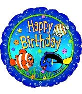 "18"" Happy Birthday Fish"