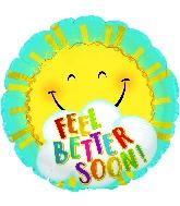 "18"" Feel Better Sun Foil Balloon"